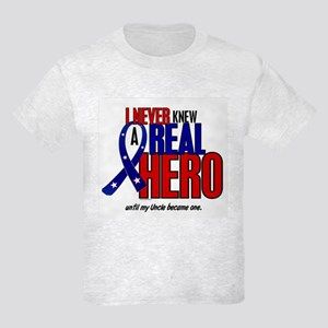 Never Knew A Hero 2 Military (Uncle) Kids Light T-