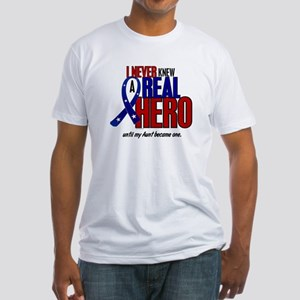 Never Knew A Hero 2 Military (Aunt) Fitted T-Shirt