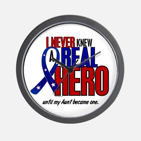 Never Knew A Hero 2 Military (Aunt) Wall Clock