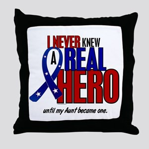 Never Knew A Hero 2 Military (Aunt) Throw Pillow