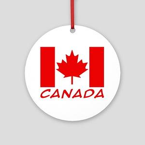 Canadian Flag Keepsake (Round)
