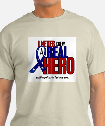 Never Knew A Hero 2 Military (Cousin) T-Shirt