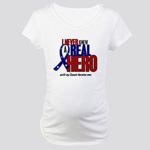 Never Knew A Hero 2 Military (Cousin) Maternity T-