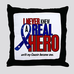 Never Knew A Hero 2 Military (Cousin) Throw Pillow