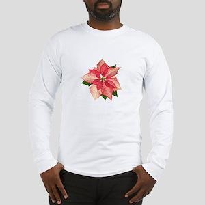 Pink Poinsettia Long Sleeve T-Shirt