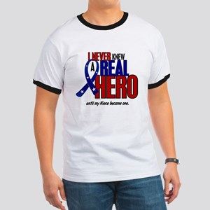Never Knew A Hero 2 Military (Niece) Ringer T