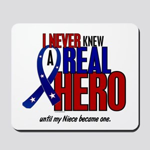 Never Knew A Hero 2 Military (Niece) Mousepad