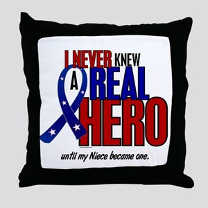 Never Knew A Hero 2 Military (Niece) Throw Pillow