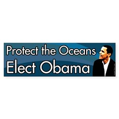 Protect the Oceans Elect Obama bumper sticker