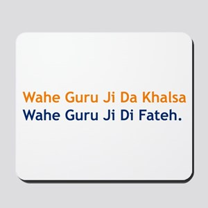 Wahe Guru Mousepad