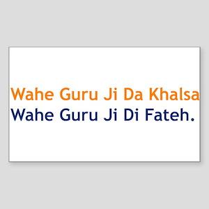 Wahe Guru Rectangle Sticker
