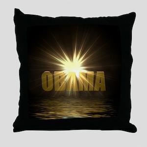 Shining Light Obama Throw Pillow