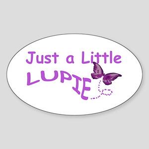 A Little Lupie Oval Sticker