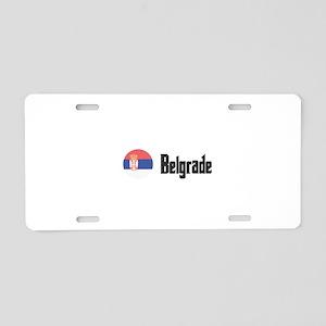 Belgrade Aluminum License Plate