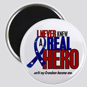 Never Knew A Hero 2 Military (Grandson) Magnet