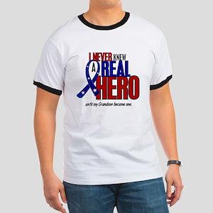 Never Knew A Hero 2 Military (Grandson) Ringer T