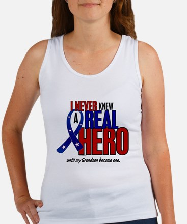 Never Knew A Hero 2 Military (Grandson) Women's Ta