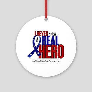 Never Knew A Hero 2 Military (Grandson) Ornament (