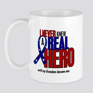 Never Knew A Hero 2 Military (Grandson) Mug