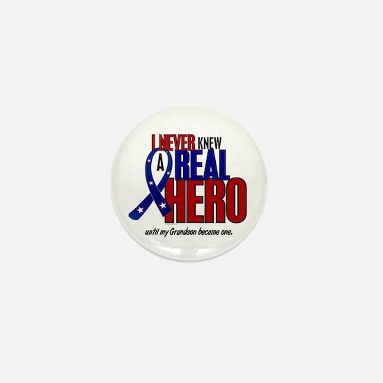 Never Knew A Hero 2 Military (Grandson) Mini Butto