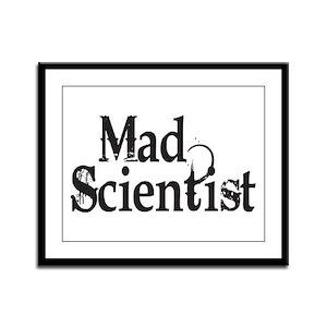 Mad Scientist Framed Panel Print