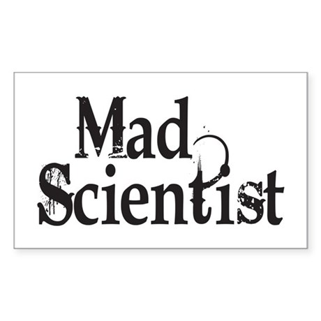 Mad Scientist Rectangle Sticker