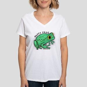Happy Frog Women's V-Neck T-Shirt