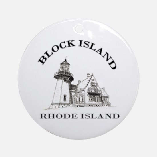Block Island Ornament (Round)