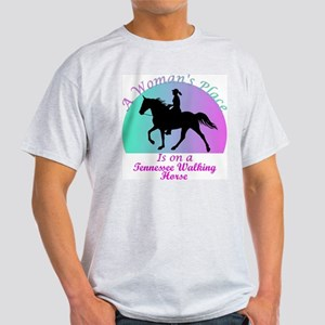 A Woman's Place is on a TWH! Ash Grey T-Shirt