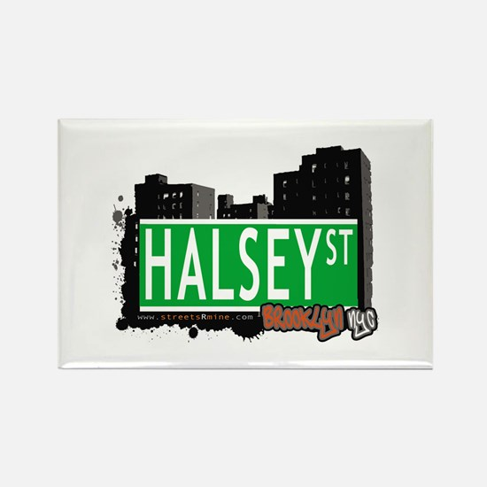 HALSEY ST, BROOKLYN, NYC Rectangle Magnet