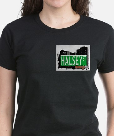 HALSEY ST, BROOKLYN, NYC Women's Dark T-Shirt