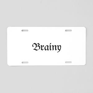 Brainy Aluminum License Plate