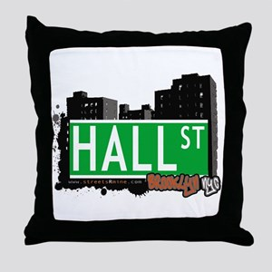 HALL ST, BROOKLYN, NYC Throw Pillow