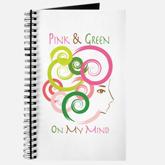Pink & Green On My Mind Journal