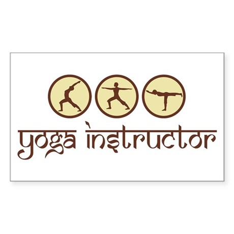 Yoga Instructor Rectangle Sticker