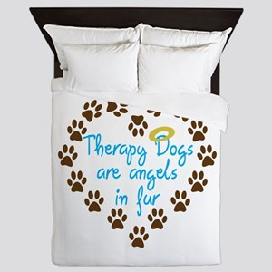 Therapy Dogs Queen Duvet
