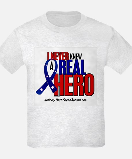 Never Knew A Hero 2 Military (Best Friend) T-Shirt