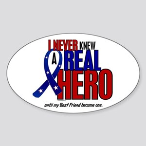 Never Knew A Hero 2 Military (Best Friend) Sticker
