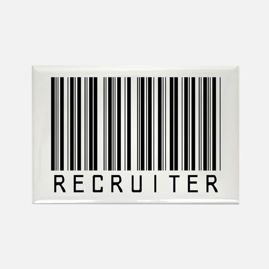 Recruiter Barcode Rectangle Magnet