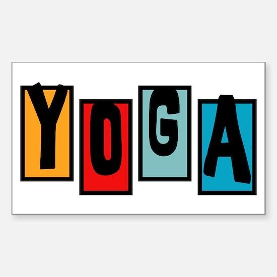 YOGA Rectangle Decal