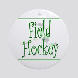 Field Hockey - Green -  Keepsake (Round)