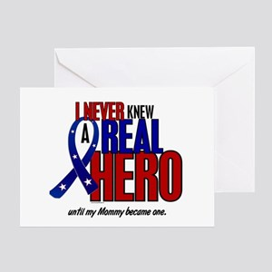 Never Knew A Hero 2 Military (Mommy) Greeting Card