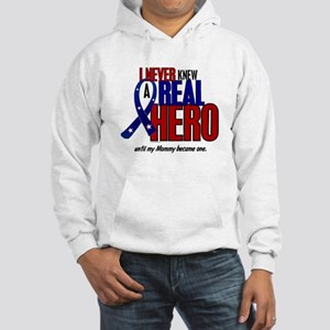 Never Knew A Hero 2 Military (Mommy) Hooded Sweats
