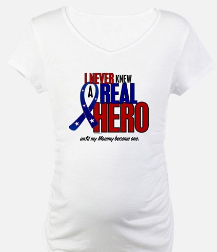 Never Knew A Hero 2 Military (Mommy) Shirt