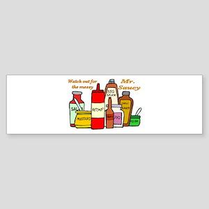 Mr. Saucy Bumper Sticker