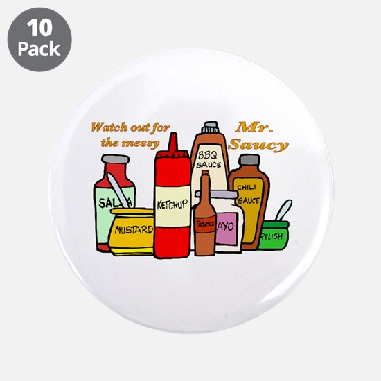 "Mr. Saucy 3.5"" Button (10 pack)"