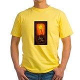 Burning man Mens Classic Yellow T-Shirts