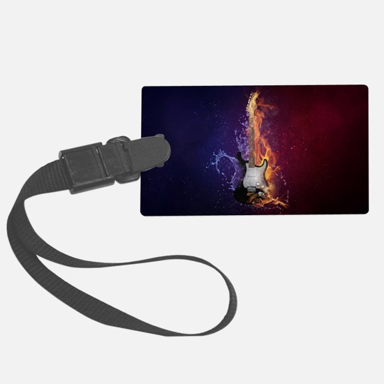 Funny Blue fire Luggage Tag