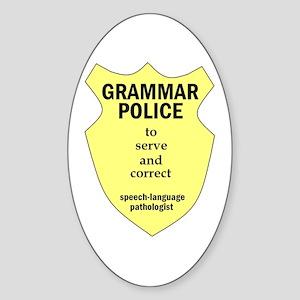 Grammar Police Speech Language Pathologist Sticker