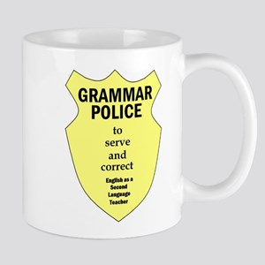 Grammar Police ESL Teacher Mug